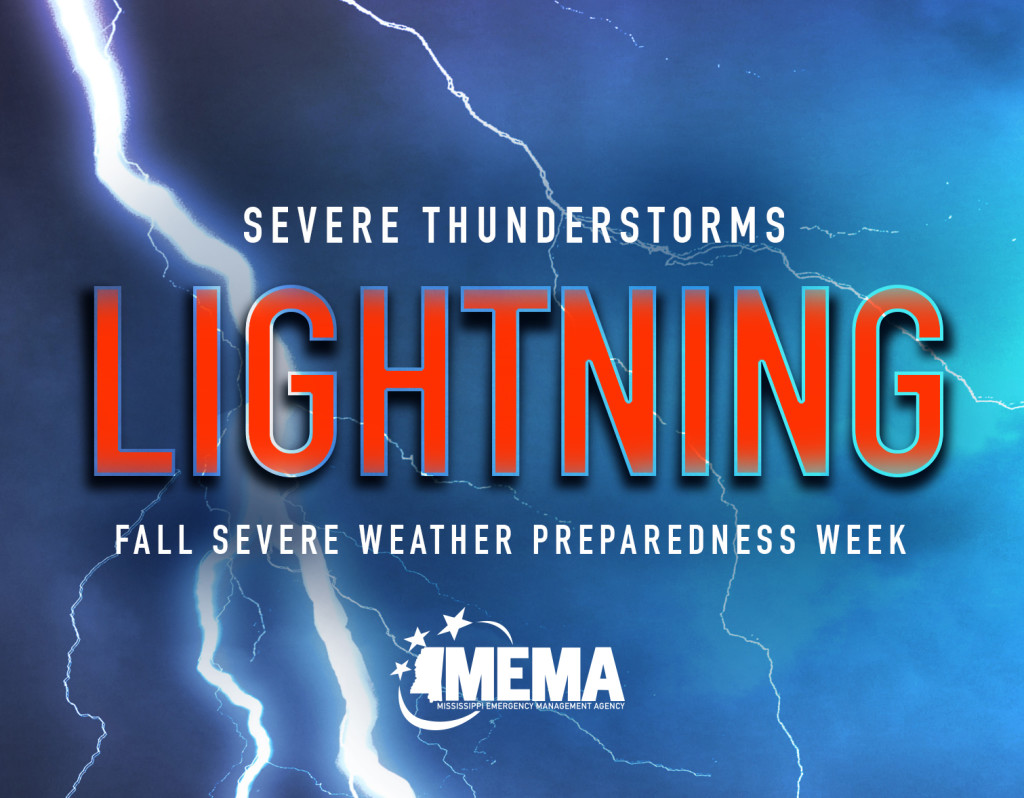 Severe Thunderstorms. Lightning. Fall Severe Weather Preparedness Week