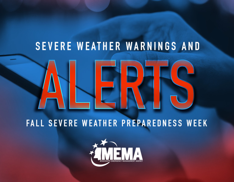 Severe Weather Warnings and Alerts. Fall Severe Weather Preparedness Week
